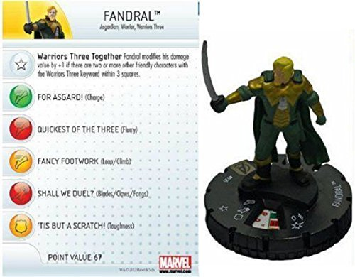 Heroclix Avengers Movie Fandral #025 Figure - 1