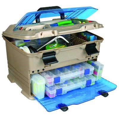 Flambeau Tackle T5 Pro Multi-Loader Tackle Box (Gold/Blue, 17.5x12.5x11-Inch)