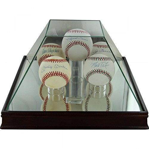 Steiner Sports Glass Pyramid 5 Ball Baseball Case (Pyramid Glass Display Case compare prices)