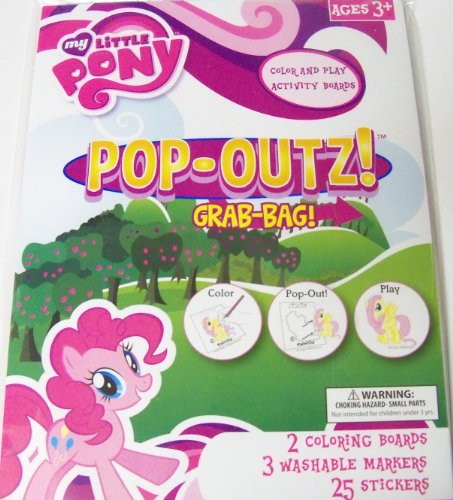 My Little Pony Friendship is Magic Pop-Outz Grab Bag ~ Color, Pop-out, Play (Pony Play)