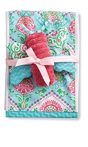 Mud Pie Burp Cloth with Rattle, Butterfly