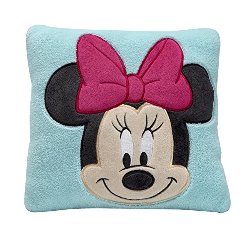 Disney Minnie Decorative Pillow, Turquoise - 1