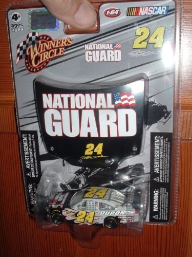 Jeff Gordon #24 Dupont National Guard Youth Challenge Special Paint Scheme 1/64 Scale Impala SS & Bonus 1/24 Scale Matching National Guard Hood Winners Circle 2009 - 1