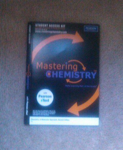 Mastering Chemistry for Chemistry: A Molecular Approach,...