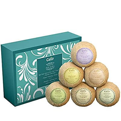 Best Cheap Deal for Bath Bombs (Set of 6) by Calily - Natural Bath Bombs To Indulge, Relax and Nourish Senses, Skin, Body and Spirit - Bath Bomb Kit With Six Different Essential Oil Bath Bombs - Gluten-Free & Vegan by Calily - Free 2 Day Shipping Availabl