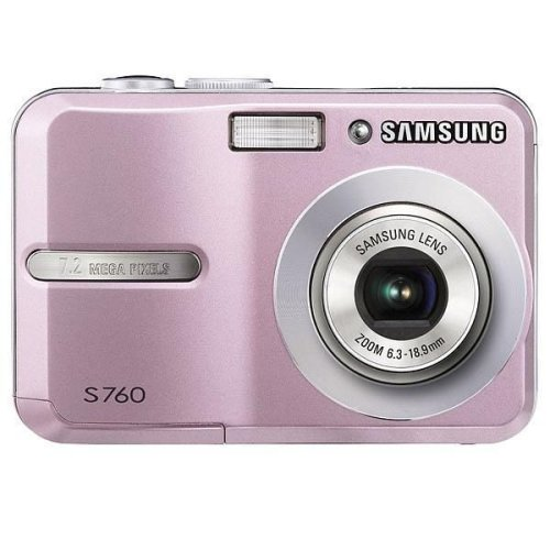 "Samsung S760 Digital Camera - Pink (7.0MP, 3x Optical Zoom) 2.5"" LCD"