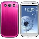 kwmobile® Akku-Deckel aus gebürsteten Aluminium für das Samsung Galaxy S3 i9300 / S3 Neo i9301, Pink