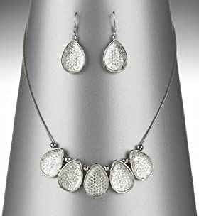 Diamanté Pear Drop Necklace