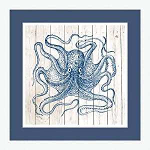 Epic Art Octopus on Planks Artwork