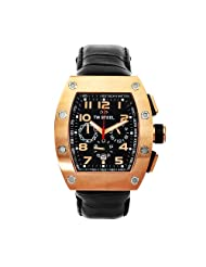 TW Steel Men's CE2004 CEO Tonneau Black Leather Chronograph Dial Watch