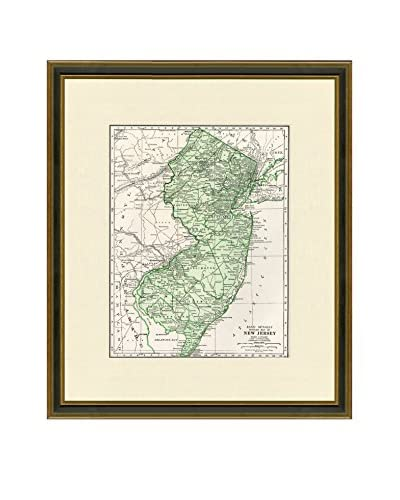Antique Map of New Jersey, 1937