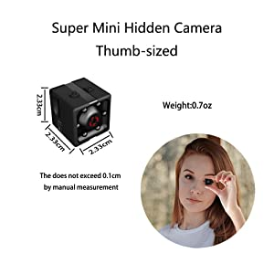 Mini Wireless Hidden spy Camera,Full HD 1080P Portable Small HD Nanny cam with Night Vision,Video Record and Motion Detection for Home, Car, Drone, Office and Outdoor Use (Color: S2)