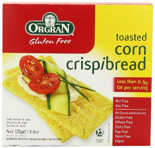 Orgran Free From Corn Crispbread 125 g (Pack of 6)