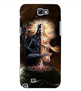 ColourCraft Lord ArdhNareshwar Design Back Case Cover for SAMSUNG GALAXY NOTE 2 N7100