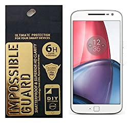 YGS Impossible Unbreakable Bendable Shock Proof Tempered Glass Screen Protector for Moto G4 Plus ( 4th Generation)