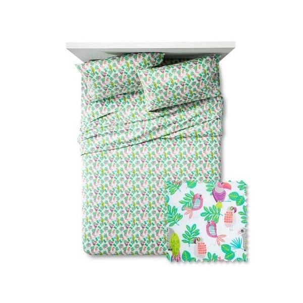 Pillowfort-Parakeet-Paradise-Twin-Sheet-Set