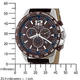 Stuhrling Original Men's 210A.3315K59 Concorso Chronograph Brown Dial Watch