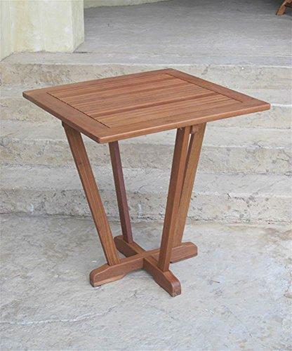 Balau Wood 28 in. Pyramid Patio Table (Balau Wood compare prices)