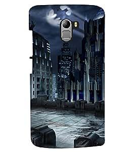 PRINTSHOPPII SCARY CITY Back Case Cover for Lenovo Vibe K4 Note