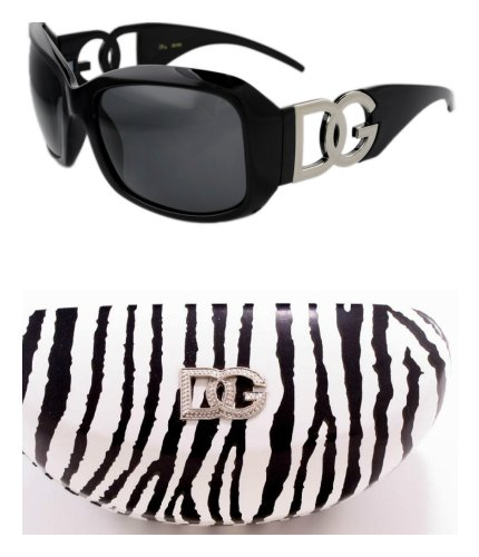 DG Eyewear Black Sunglasses Zebra