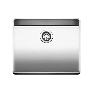 Blanco 519842 Attika 20-Inch Elevated Rim Single Bowl Kitchen Sink, Small, Stainless Steel