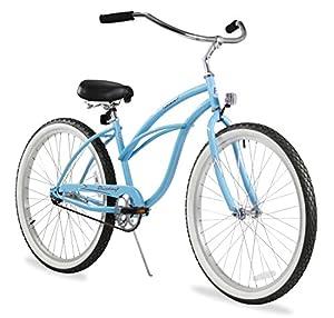 Firmstrong Urban Lady Single Speed Beach Cruiser Bicycle, Baby Blue, 13 inch / Medium