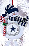 Dallas Cowboys Jolly Christmas Snowman Ornament