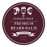 The Gentlemen's Premium Sandalwood Beard Balm - 2 Oz - Tame Your Beard With No Greasiness - Make It Look Thicker and Fuller (Sandalwood)