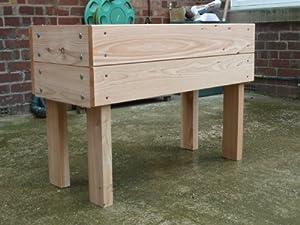Wooden Troughs Garden Planter on extra high legs 650mm