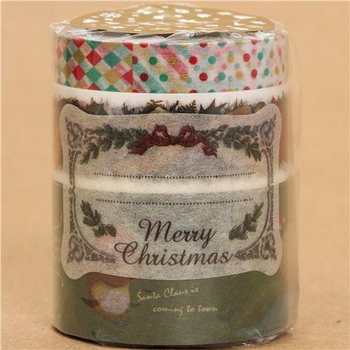 Set 3 nastri adesivi decorativi natalizi con animali da mt - Nastri decorativi natalizi ...