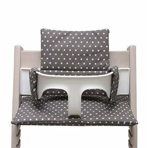 blausberg baby sitzkissen f r tripp trapp hochstuhl taupe mit sternen baby. Black Bedroom Furniture Sets. Home Design Ideas