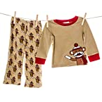 Sock Monkey Boy's PJ Set