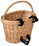 Avenir Wicker Bicycle Basket with Black Velcro (8 - inch x 10 - inch x 7.5 - inch)