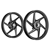 Speedwav Bike Alloy Wheels Black Set of 2 17/17 Inch Front Disc/Rear Drum-Hero Ignitor