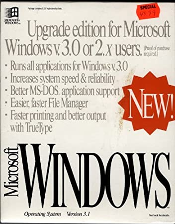 Microsoft Windows 3.1 Upgrade Edition for Users of Windows 3.0