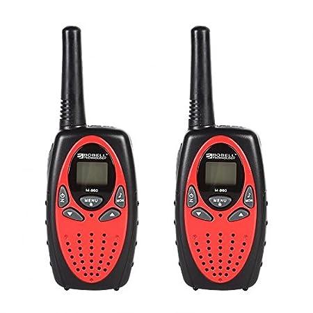 Floureon 8 Canaux Lot de 4 talkies walkies UHF400-470MHZ 2-Way Radio 3KM gamme interphone rouge et noir