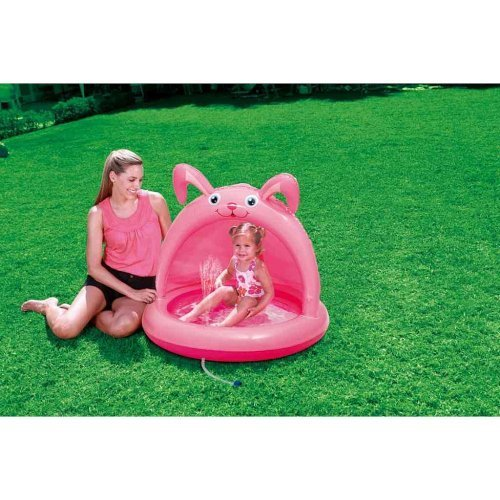 Sizzlin' Cool Baby Pool with Canopy - Bunny by Poly Group