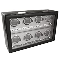 Wolf Designs 456902 Viceroy Collection Module 2.7 Eight Watch Winder with Cover