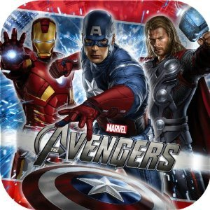 "The Avengers Party 9"" Square Lunch/Dinner Plates (8 ct)"