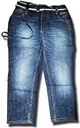 Topchee Kids' Jeans (JNK-16_Blue_9 to 10 Years)