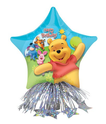 "14"" Pooh Birthday Star Centerpiece - 1"