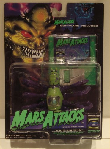 Mars Attacks Superflex Action Figure - S.A.D.A.A.M.A. - 1