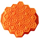Wholeport Honeycomb Cake Molds for Kids 17-Hole Silicone Baking Cake Mold Bakeware