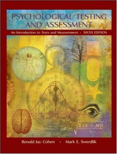 Psychological Testing and Assessment with Exercises Workbook