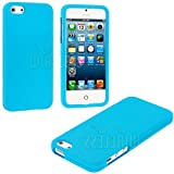 myLife (TM) Sky Blue Flat Series (2 Piece Snap On) Hardshell Plates Case for the iPhone 5/5S (5G) 5th Generation... by myLife Brand Products