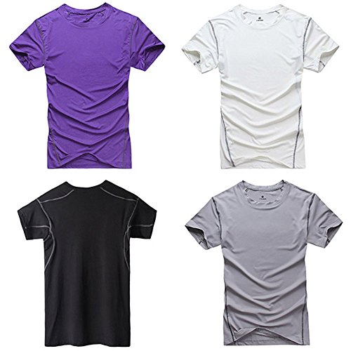 Etosell Men's Quick dry T-shirts Short Sleeve Tight Gym Hiking Training Clothes