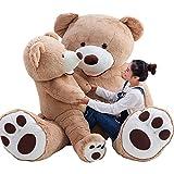 ぬいぐるみ 特大 くま/テディベア アメリカ 可愛い熊 動物 大きい/巨大 くまぬいぐるみ/熊縫い包み/クマ抱き枕/お祝い/ふわふわぬいぐるみ (130CM, キャメル)