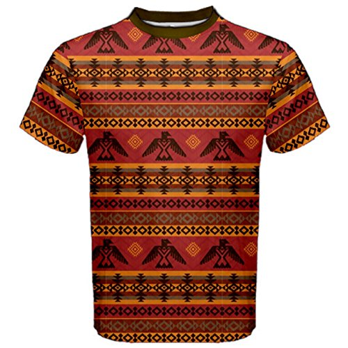 cowcow-brown-eagles-ethnic-style-pattern-tribal-native-american-mens-sport-mesh-tee-brown-2xl