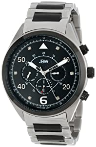 JBW Men's J6283B Multi-Function 6 Diamonds Metal Watch