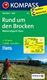 Rund um den Brocken - Nationalpark Harz 1 : 25 000 (KOMPASS-Wanderkarten)